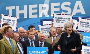 Theresa May campaigns in North Tyneside in May 2017.