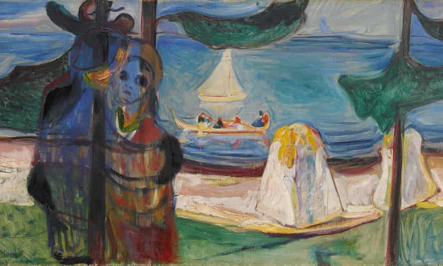 A crop of Edvard Munch's Embrace on the Beach