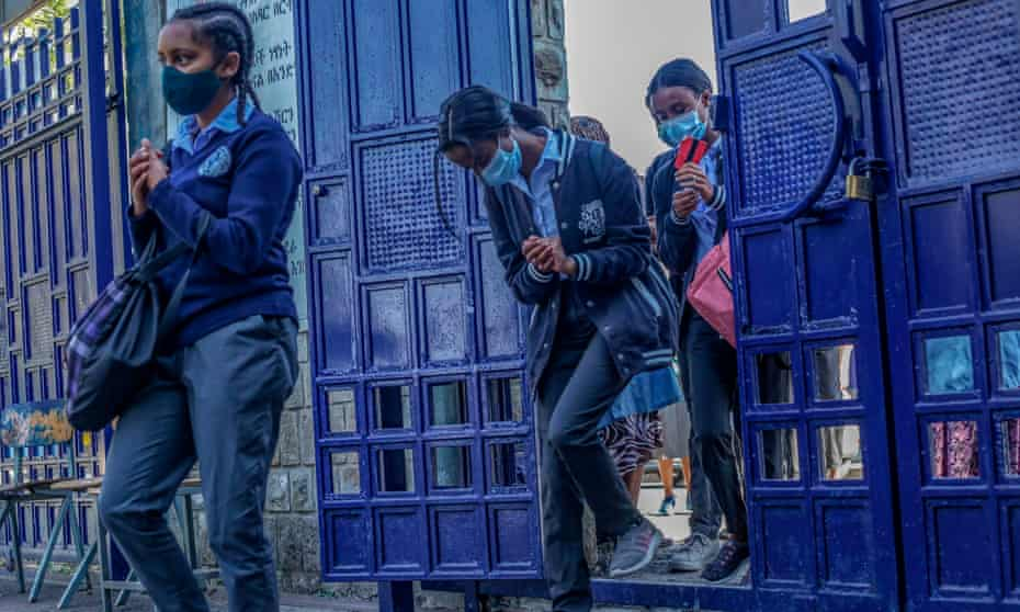 Students in Addis Ababa, Ethiopia