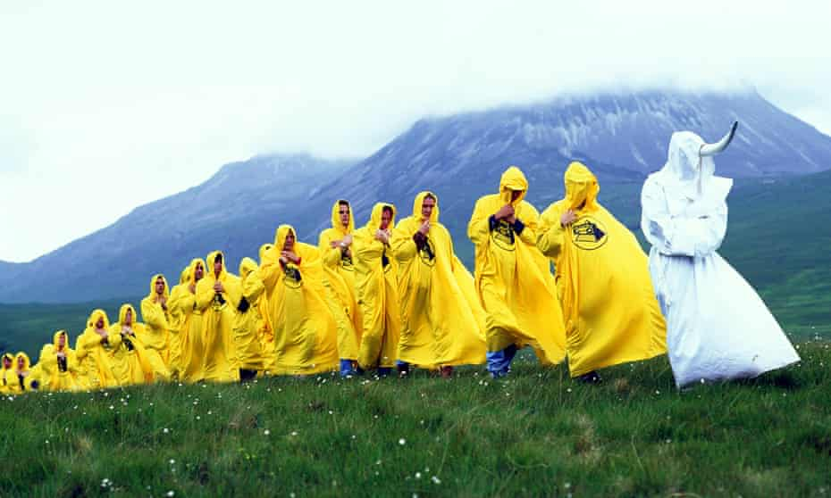 The KLF filming the video for Ancients of Mu on Islay.