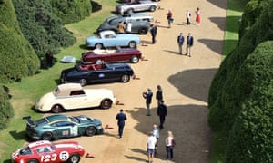 Classic cars on display at the Concours de Elegance at Hampton Court Palace on September 1, 2017
