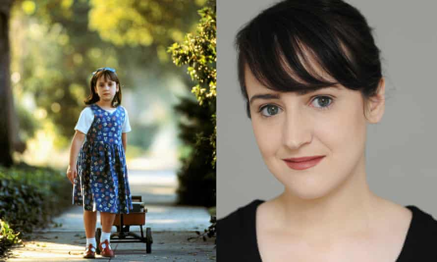 Mara Wilson in Matilda in 1996, and today