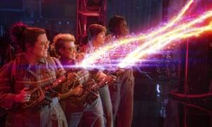 Melissa McCarthy, Kate McKinnon, Kristen Wiig and Leslie Jones in the 2016 Ghostbusters remake.