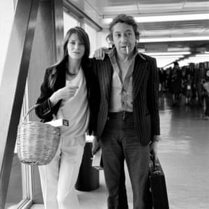 Jane Birkin with Serge Gainsbourg … opting for a fruit basket.