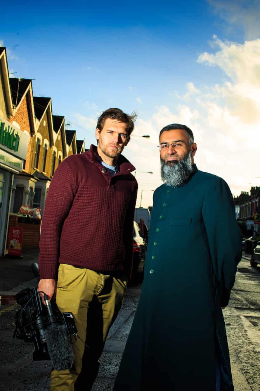 Anjem Choudary film maker Robb Leech (left)
