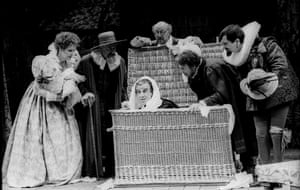 Penelope Keith as Mistress Ford and Philip Lowrie as Page in The Merry Wives of Windsor