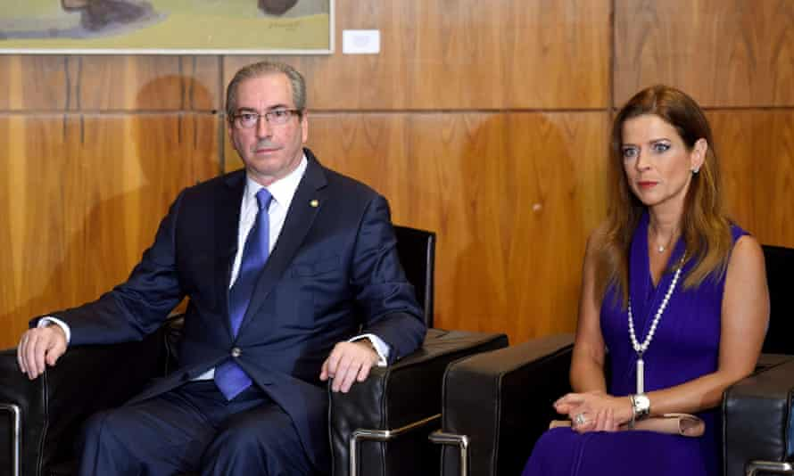 Swiss authorities identified four bank accounts in the name of Eduardo Cunha, left, and his wife Claudia Cordeiro, right, even though he had told a congressional commission he had no accounts abroad.