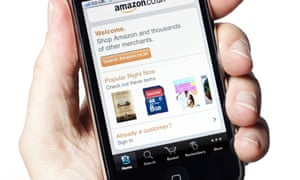 Amazon site on a phone