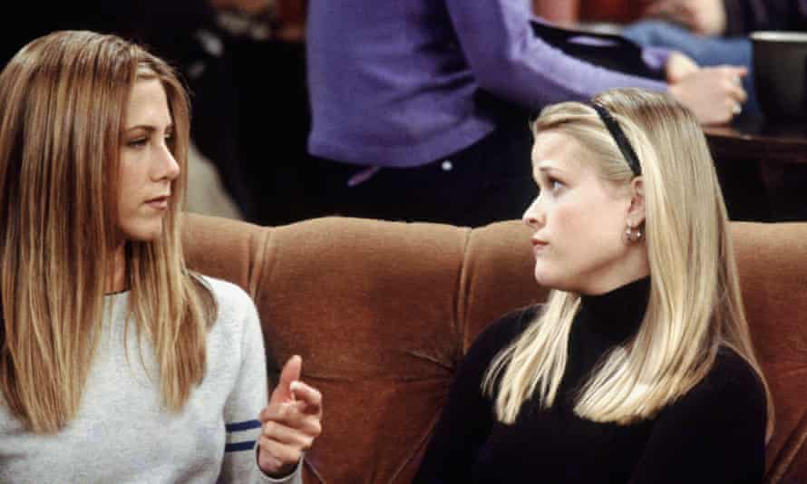 Jennifer Aniston as Rachel Green and Reese Witherspoon as Jill Green.