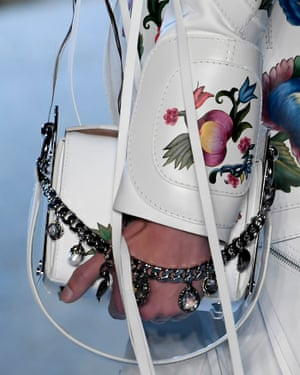 A handbag at the the McQueen Paris show