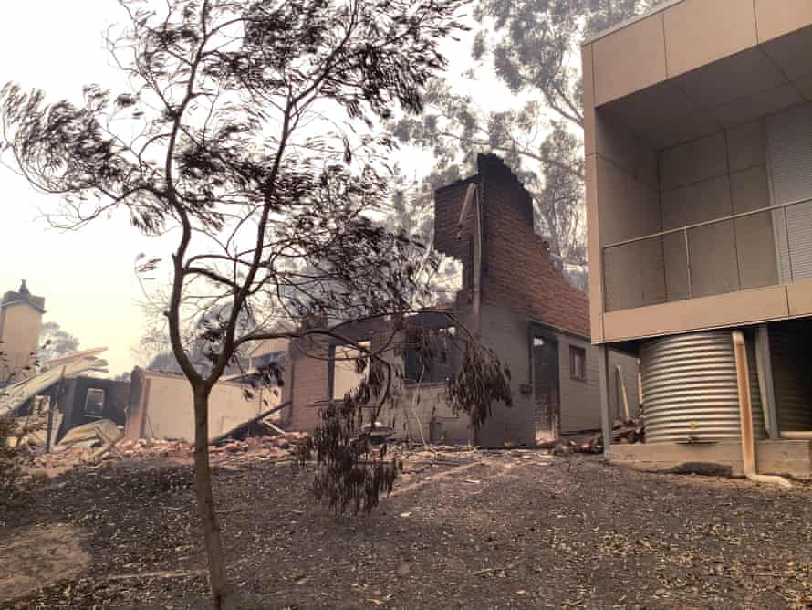 The Rosedale home survived when neighbouring homes burn down.