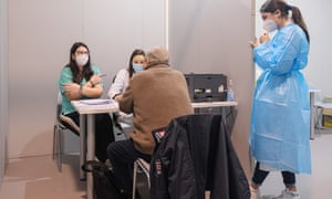 First vaccinations against Covid19 for the healthcare staff of the private sector of Padua, Italy - 08 Feb 2021.