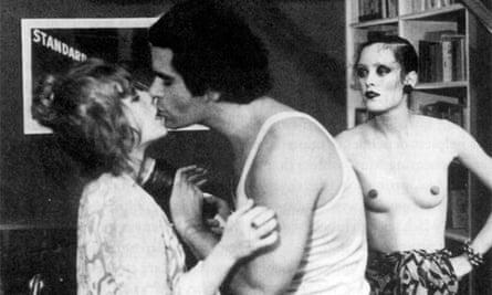 Karl Lagerfeld in the Warhol film L'Amour.