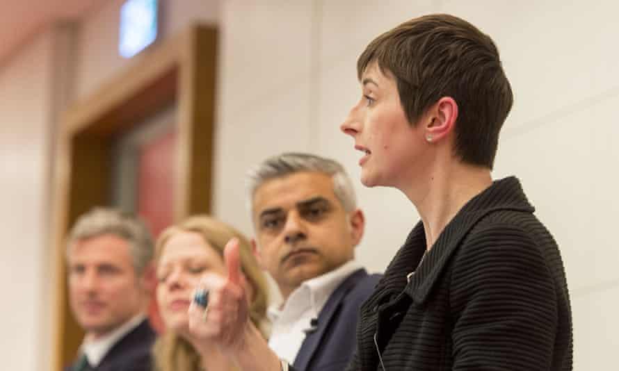 Caroline Pidgeon at a mayoral hustings.