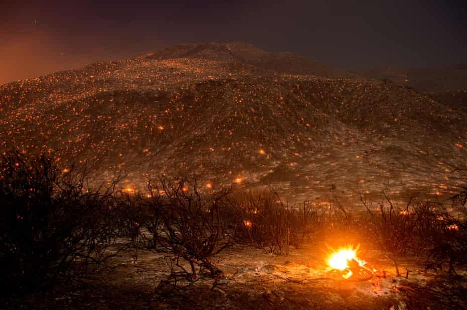 A wildfire near Keenbrook, California in August 2016.