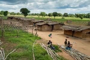 The tobacco farm and village