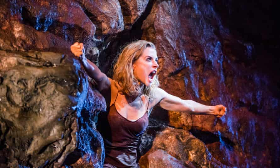 Lisa Dwan in No's Knife by Samuel Beckett at the Old Vic.