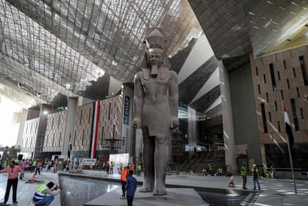 The Grand Egyptian Museum takes shape in Giza, Cairo.