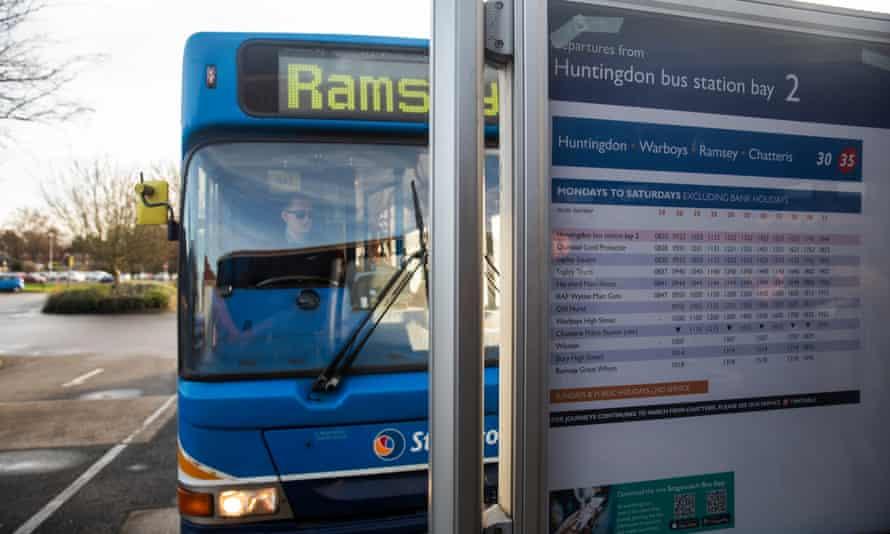 A local bus in Cambridgeshire