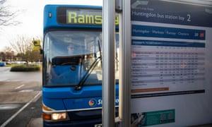 The Huntington to Ramsey bus.