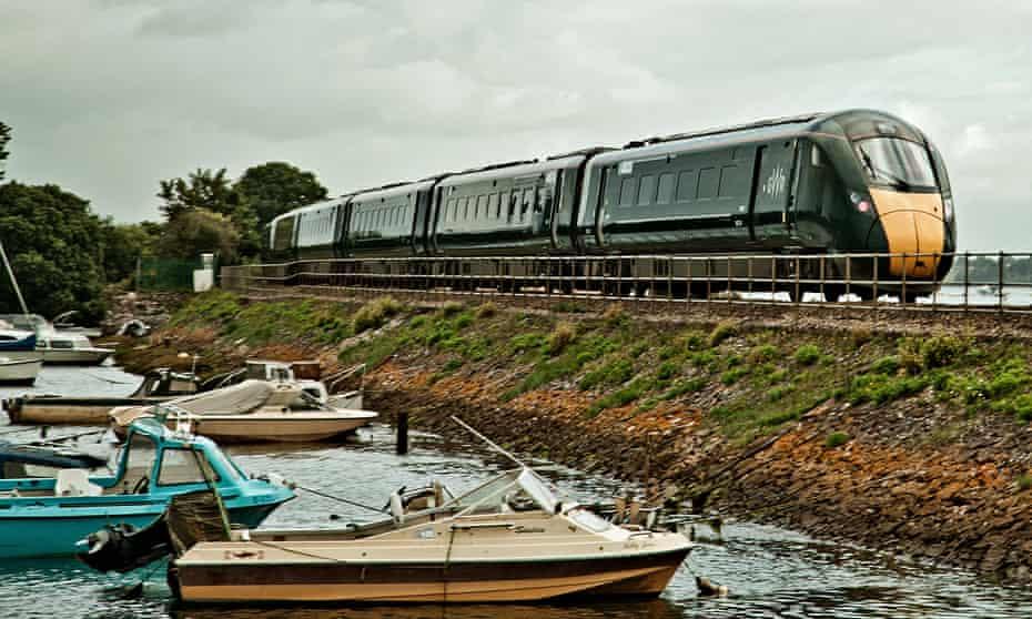 Dawlish station with train