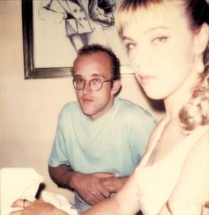 Keith Haring and Debi Mazar