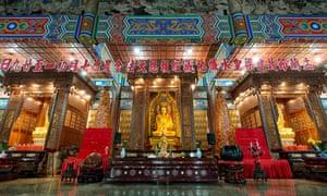 Interior of Kek Lok Si TempleKek Lok Si Temple in Air Itam, Penang state, Malaysia.