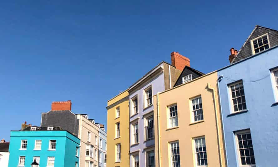 Colourful houses in Wales