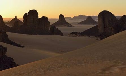 Tassili N'Ajjer National Park, in the Sahara desert, Algeria.