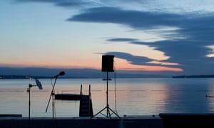 Raga Dawn, performed on Lake Geneva in June 2015.