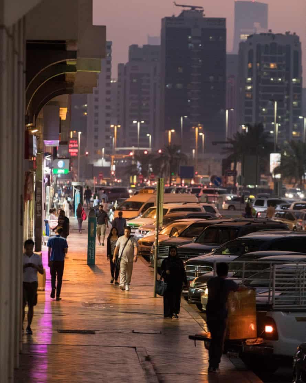 Zayed Street at dusk