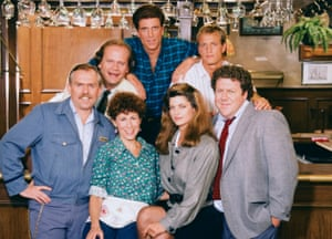 Most of the cast of Cheers.