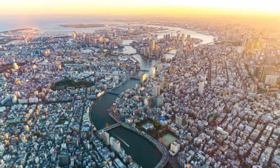 Interconnected … aerial view of Tokyo.