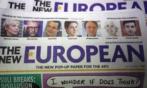 The New European newspaper masthead