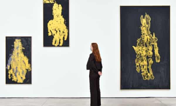 Darkness Goldness by Georg Baselitz, White Cube Mason's Yard, London, 2020.