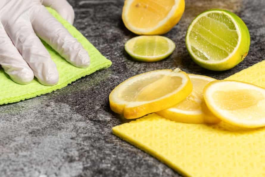 Lemon cleaning.