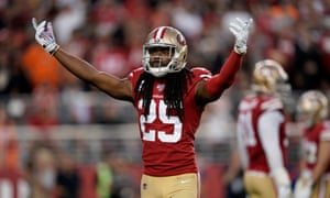 Richard Sherman intercepted Baker Mayfield during  Monday's game