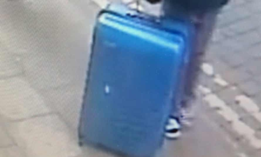 CCTV image of blue case belonging to Salman Abedi