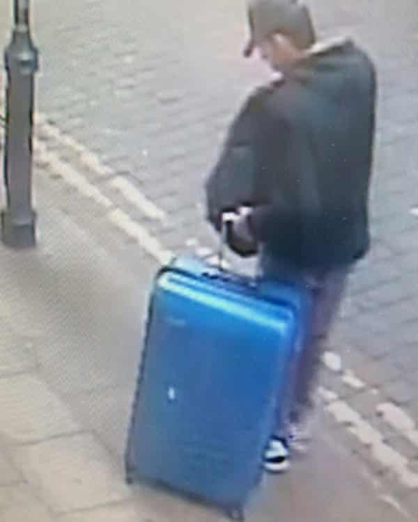 Abedi with the suitcase in Manchester city centre