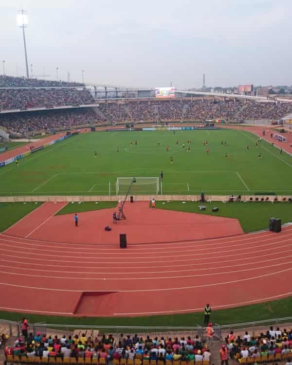 The refurbished stadium in Yaoundé.