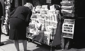 Remembering when … the array of newsprint on a kiosk in the late 60s.