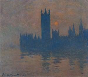 Claude Monet's Houses of Parliament, Sunset (1904)