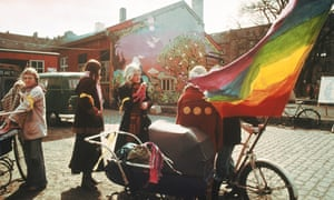 Freetown Christiania in Copenhagen, Denmark, in the 1970s.