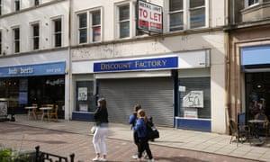 Shops on Falkirk's high street