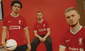 Liverpool's new 2020-21 home kit as designed by Nike