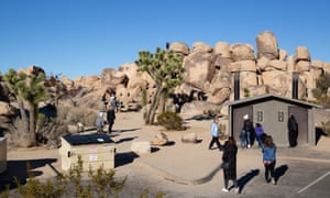 Volunteers helping out tourists at Joshua Tree National Park in California.