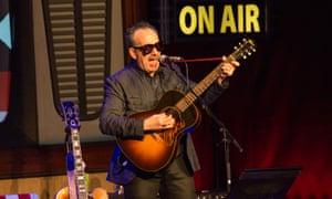 Riveting … Elvis Costello at the London Palladium. Photographs: Rob Ball/Redferns