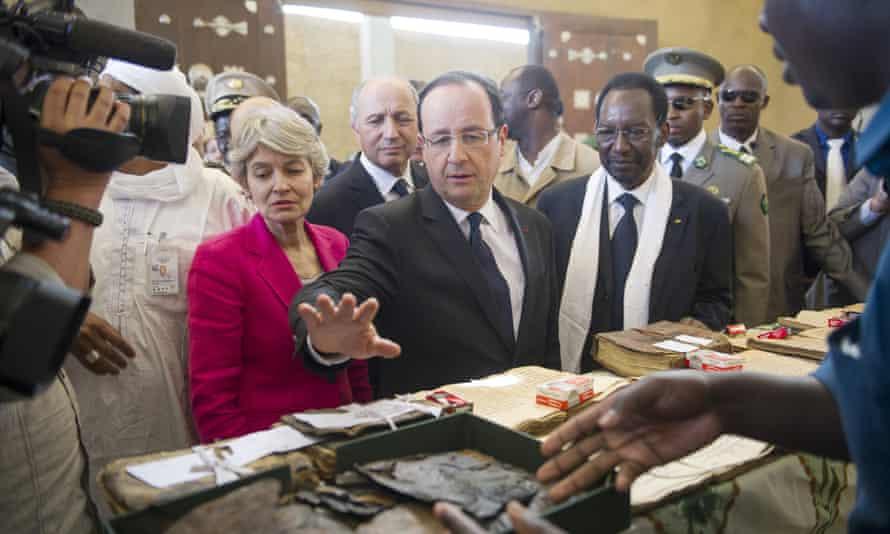 President Hollande in Mali in February 2013.