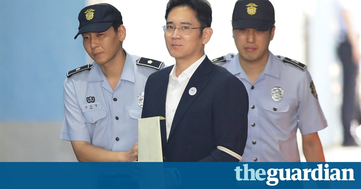 Samsung heir sentenced to five years in jail after corruption conviction