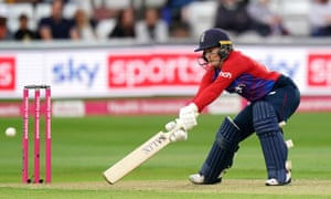 England's Tammy Beaumont in action.